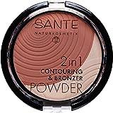 Sante Natural maquillaje 2in1contou Anillo & bronzer Powder Vegano, Bio Extracto de, natural de maquillaje (9g)