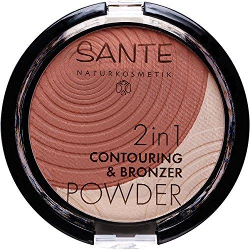 Sante Cosmetici naturali 2in1contou Ring & Bronzer Powder, vegan, Bio di estratti, natural Make Up (9G)