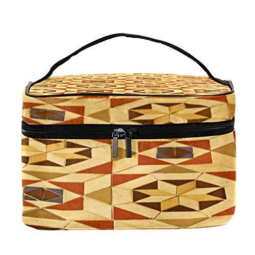 TIZORAX Vintage vloertegels patroon cosmeticatas reizen toiletartikelen geval grote make-up organizer box