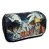 Womat Anime Unisex Bolsa de papelería Naruto Billetera Billetera Naruto Sasuke Billetera Doble Capa...