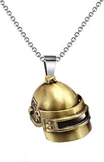 The Jewelbox ZIVOM Vintage Helmet Souvenier Bronze 316L Surgical Stainless Steel Pendant Necklace Chain for Men Boys