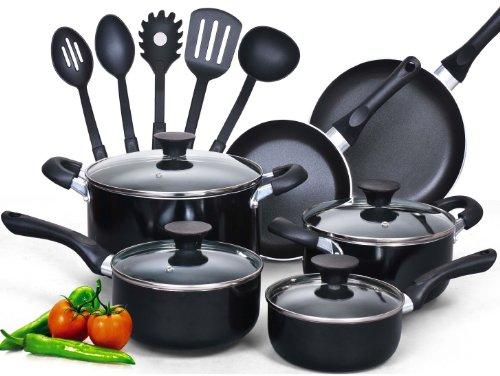 Batterie de Cuisine 15 Pièces Cook N Home en Noir - Modèle NC-00296 - 0