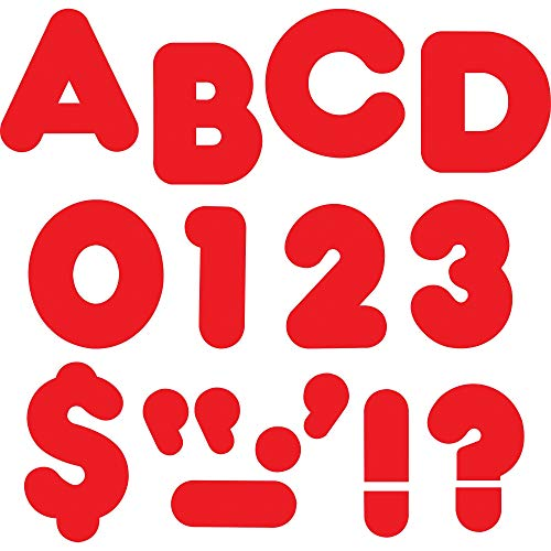 """TREND enterprises, Inc. Red 2"""" Casual Uppercase Ready Letters"""