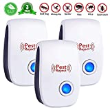 WYYZSS Ultrasonic Pest Repeller Plug-in Electronic Repellent- Reject Mice Roaches Bed Bug Spiders Mosquito Fleas Ant Ant Fly Rat,3pcs