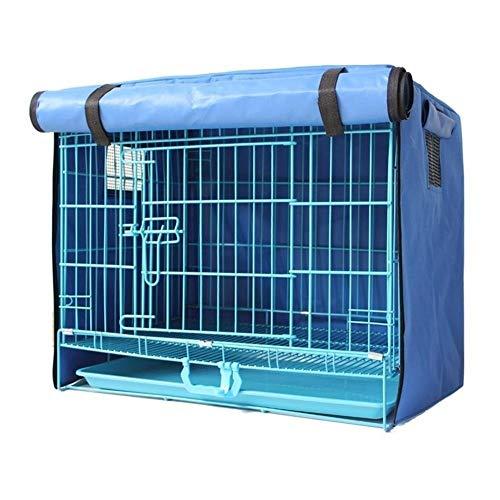 Hundekäfig Hundebox Cat Kaninchen Hundebox Abdeckung Wasserdichte Sonnenschutz windundurchlässiges Poncho Isolierabdeckung Mosquito Teddy Crate Außen Supplies Decken Käfig ( Color : Blue , Größe : M )