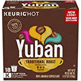 Yuban Gold Original Medium Roast Coffee K-Cup Pods 72 Pods, 18 Count (Pack of 4)