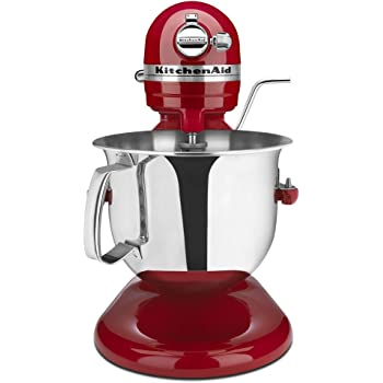 KitchenAid Renewed RKSM6573ER 6-Qt. Professional Bowl-Lift Stand Mixer - Empire Red