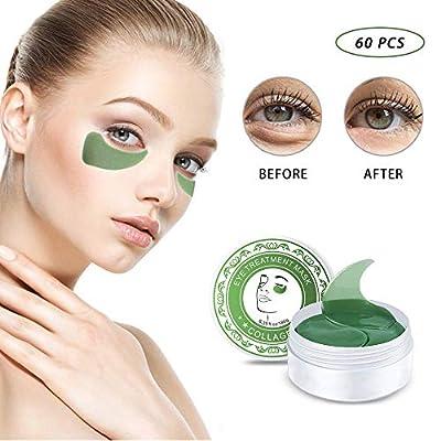 Seaweed Eye Mask, Anti Wrinkle Treatment Green Eye Mask, Hydrogel Eye Mask, Gel Eye Mask, Green Algae Eye Mask, Remove Bags & Dark Circles Under Eye, Hydrating-60PCS