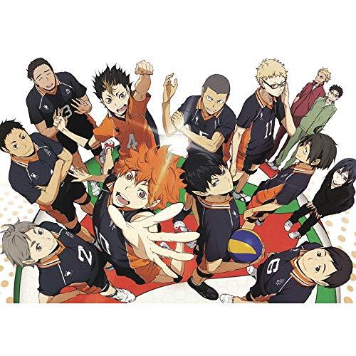 UHvEZ Personajes de Anime japoneses 1000 Piezas Puzzle de Madera para niños Puzzle para niños Juguete Educativo de Madera para niños Rompecabezas de Regalo 50x75cm