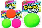 Stretchy Balls Stress Relief (3 Pack) by Fun a Ton | Soft Dough Stress Ball Pull and Stretch. Hand Therapy or Sensory Fidget Toy, Squishy Anxiety Relaxing Toy. | F-401-3s