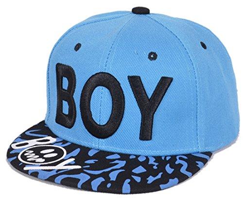 Belsen Kind Hip-Hop Leopard Boy Cap Baseball Kappe Hut (azurblau)