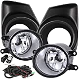 UFRAME Compatible with 2011 2012 2013 Toyota Corolla Fog light Kit w/Black Bezels/Wiring/Switch/Bulbs
