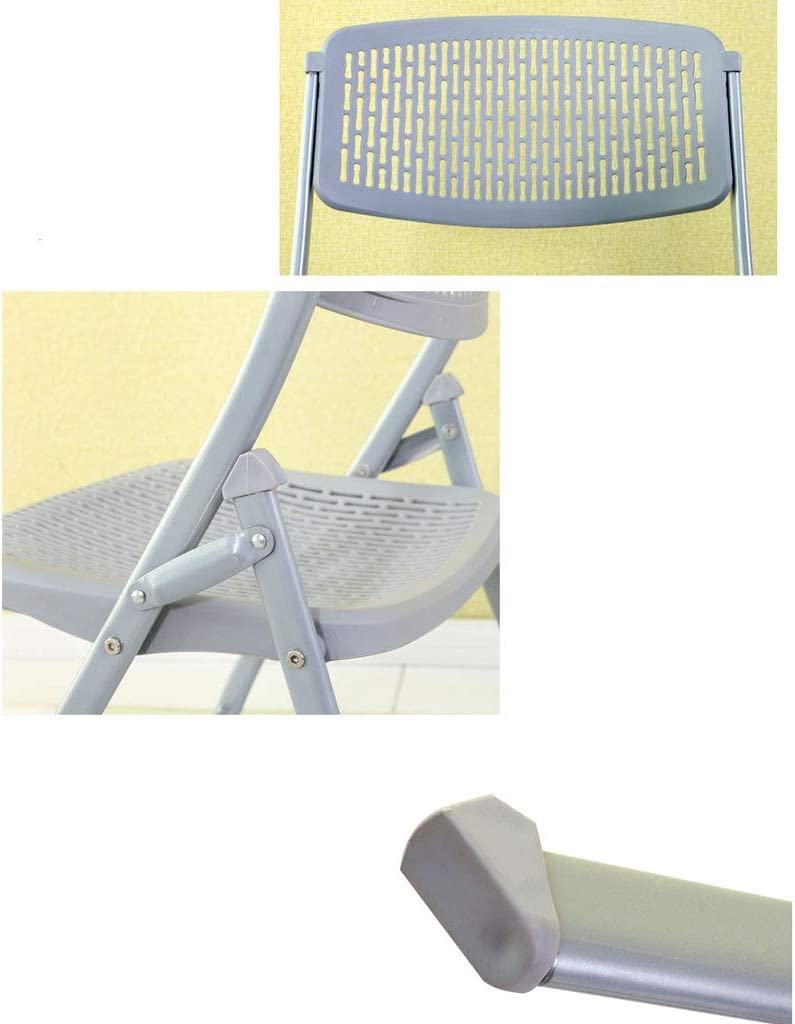 SLL- Chaise Pliante Tabouret Arrière Tabouret Portable Simple Chaise Respirant Ordinateur Bureau Maison Extérieur Adulte Moderne (Color : Gray) Blue