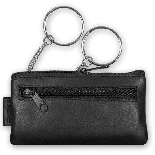 Schlüsseletui, 105110 002, Damen und Herren Schlüsseletui, Leder, schwarz