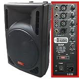 1200 Watt Powered DJ Speaker - 15-inch - Bi-Amp 2-Way Active Speaker System by Adkins Pro Audio - TA15P