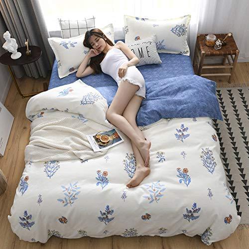yaonuli Gongmian Schleifen vierteiligen Studentenwohnheim dreiteilige Bettwäsche Bettbezug Bettwäsche 2,0 * 2,3 m Bettbezug vierteilig