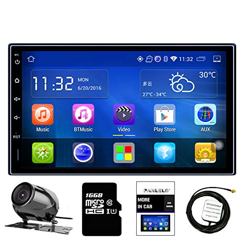 Panlelo PA09YZ32, In Dash 2 DIN 7 Pulgadas Completo HD Pantalla Táxil Head Unit Android 6.0 Navegación GPS Estéreo de Coche Quad Core 16GB + 32GB Flash Bluetooth Am/FM/RDS Wi-Fi