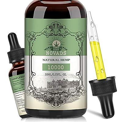 Hemp Natural Oil, High Strength Vegan Friendly Ingredients 10ML (10000MG)