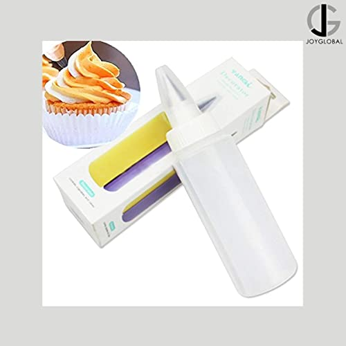 JoyGlobal Icing Piping Cake Cream Pastry Decorating Bottle with Nozzle and Dual Action Twin Cake Decorating Icing Bot...