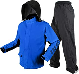JKL Raincoat Rain Suit, Men's Long-Sleeved Snowsuit, Waterproof and Windproof Hooded Rain Coat, Windbreaker, Polyester Rai...
