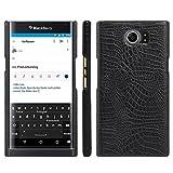 HualuBro BlackBerry Priv Hülle, [Ultra Slim] Premium Leichtes PU Leder Leather Handy Tasche Schutzhülle Hülle Cover für BlackBerry Priv Smartphone (Schwarz)