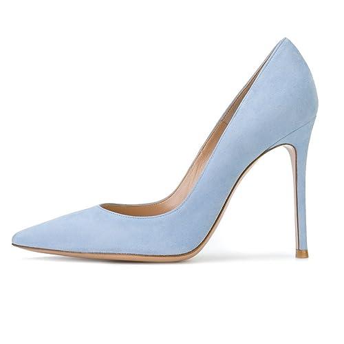 41c8e68339593 Light Blue Heels: Amazon.com