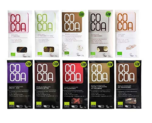 Raw Cocoa Bio Schokoladentafeln 50 g (Alle Sorten 10x50g)