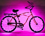 N&M Products Bike Wheel/Lights - Colorful Light Accessory for Bike - Perfect for Burning Man (Blue)