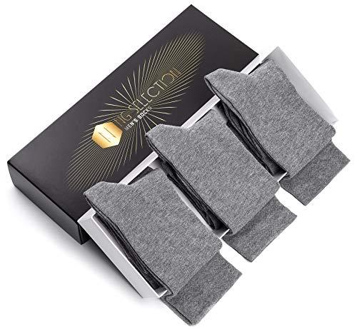 NG Selection - Herren Classic Premium Business Socken 6er Pack in Luxus-Box - OEKO-TEX Standard 100 - Made in EU (43-46, Grau x 6)
