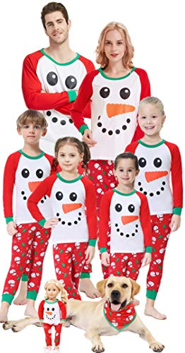 Matching Family Christmas Pajamas Boys Girls Snowman Jammies Children Gift Set Size 12