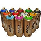 Montana Gold Premium Vernice spray 400 ml colori principali set di 12