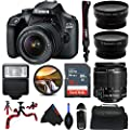 Canon EOS 4000D DSLR Camera with 18-55mm f/3.5-5.6 III Lens - Pixi Advanced Bundle (International Version) by Pixibytes