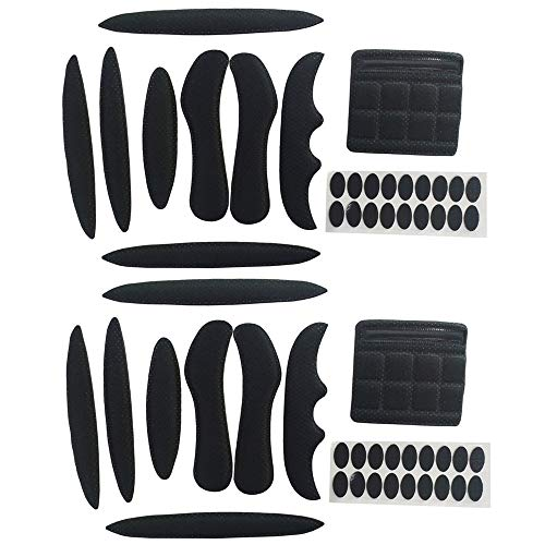 Helmpolster-Set, Fahrradhelmpolster, universale Schaumstoff-Pads für Fahrrad-, Motorradhelm, 2 Sets (Schwarz)