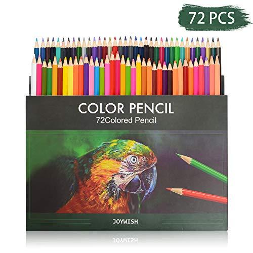 72 Buntstifte - 72 Einzigartige Farben für Zeichnung und Malbuch - Aquarell Bleistifte Set - Ideales für Künstler Erwachsene und Kinder Gemälde, Skizzen