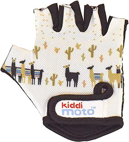 KIDDIMOTO Kinder Fahrradhandschuhe Fingerlose für Jungen und Mädchen/Fahrrad Handschuhe/Bike Kinder Handschuhe - Lama - M (4-8y)