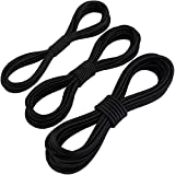 ADXCO 3 Pack Bungee Shock Cords Elastic Band Nylon Cords Heavy Stretchy String Rope for Marine Kayak, Tie Down, Trailer Strap or DIY Applications