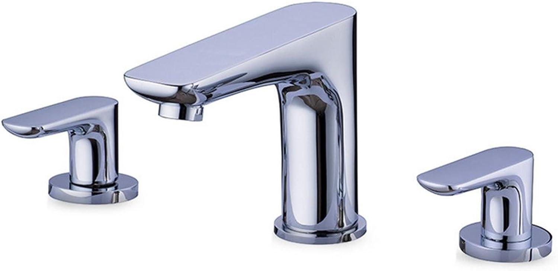 Armaturen im Badezimmer verchromt Split Drei-Loch-Doppel Waschbecken Waschbecken Waschbecken Wasserhahn sinkt
