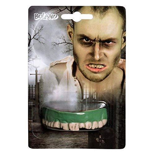 Boland – dentiera Zombie pour adultes, vert, Taille unique, 72057