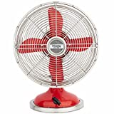 H.Koenig JOE50 Tischventilator  / Retro-Design / Metall / rot