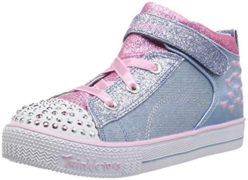 Skechers Shuffle Lite-Dainty Denims, Zapatillas Altas para Niñas, Azul (Light Blue Pink Lbpk), 21 EU