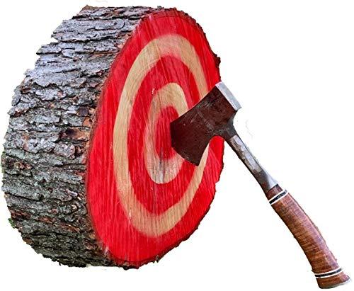 LJ's Log Targets Throwing Knife Target Axe Throwing Target 16 x 4.5 real wood, throwing knives target board, ax throwing target, throwing axe target, knife throwing target board NO SUPPORT LEGS