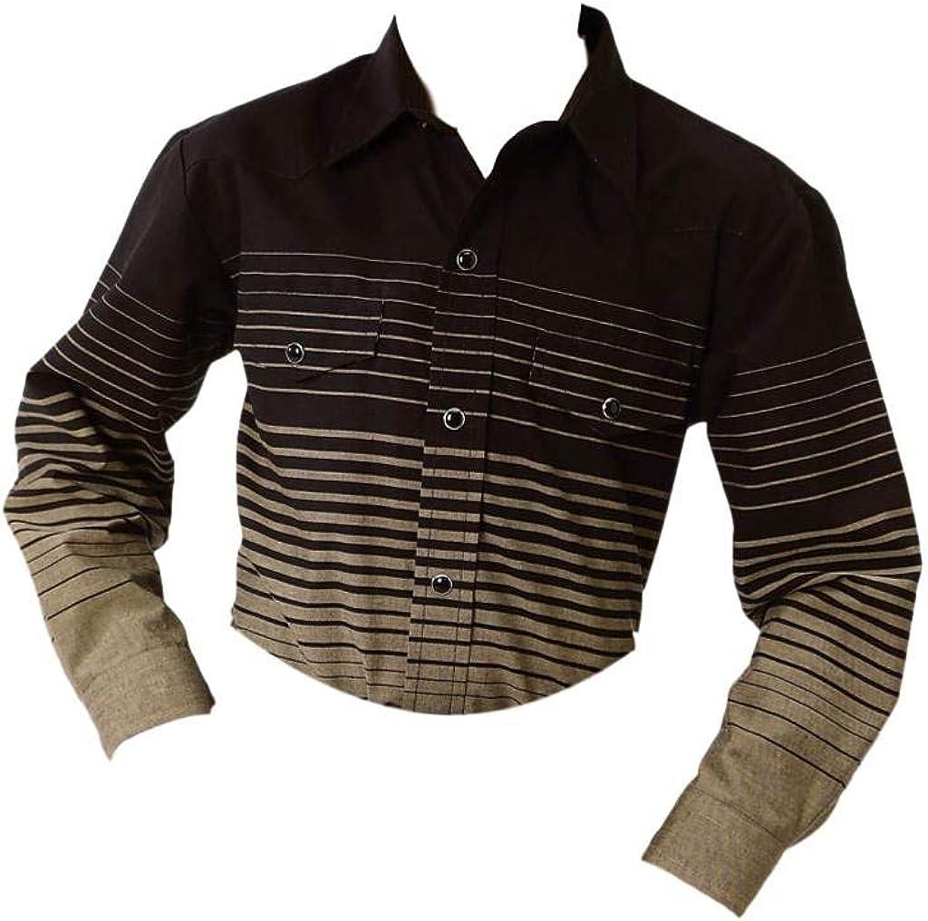 Roper Boys' Multi Border Stripe Long Sleeve Western Shirt