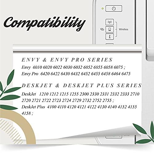 AAKIDINK 305 XL Negro y Tricolor Cartuchos de tinta Remanufacturados Repuesto para HP 305 305XL para HP DeskJet 2710 2720 2722 DeskJet Plus 4100 4130 Envy 6032 Envy Pro 6430 6420 Impresora Multi-pack