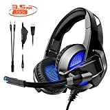 Rimila Stereo Gaming Headset Noise Cancelling Over Ear Headphones with Mic, Bass Surround