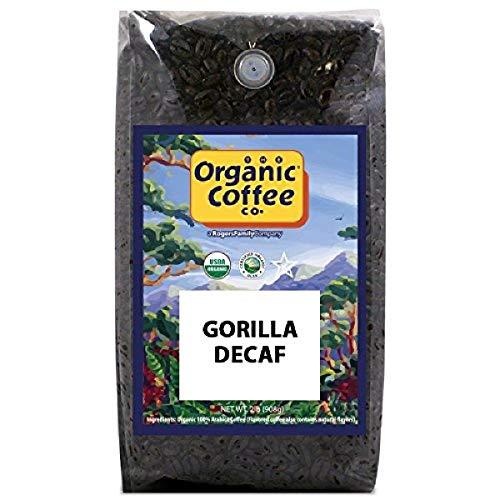 The Organic Coffee Co. Gorilla Decaf Whole Coffee Bean Medium Light Roast