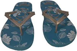 Roxy Melon III Sandal Style Aqua With Gold Lettering