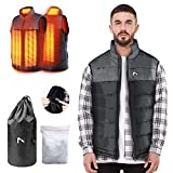 Heated Vest for Man/Woman, Electric Heating Coat Dual Independent...
