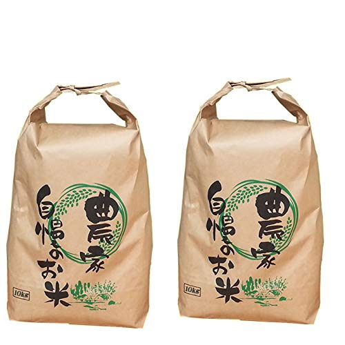 山形県産 雪若丸 令和元年度産 (無洗米に精米, 玄米 20kg(10kg×2袋))