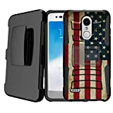Untouchble   Compatible with LG Stylus 4, LG Stylo 4 Kickstand Case [Heavy Duty] Holster Case Combo Dual Layer Case Built in Kickstand - Vintage American Flag