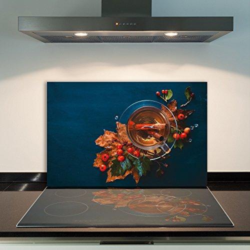 DAMU - Copri Piano Cottura in vetroceramica, 1 Pezzo, 80 x 52 cm, per Piani Cottura a induzione, Protezione Contro Gli Schizzi